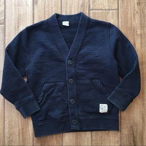 Baby Gap toddler navy cardigan sweater boy 4T